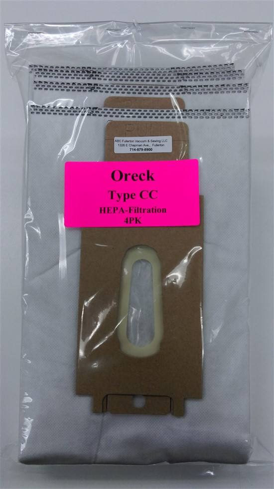 Oreck Type CC HEPA cloth bags 4Pk
