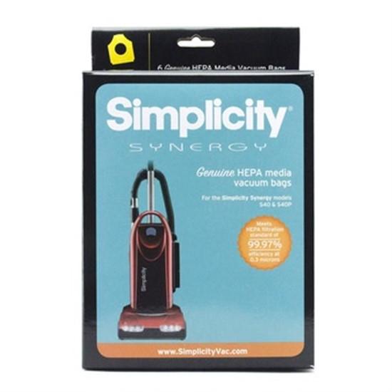 Simplicity Synergy S40 Series Genuine HEPA cloth bags 6Pk