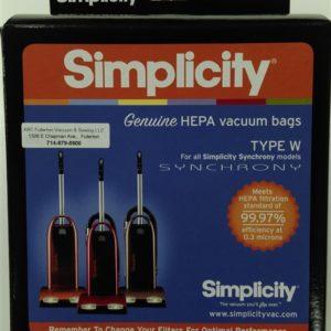 Simplicity Type W HEPA cloth bags 6Pk