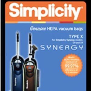 Simplicity Type X HEPA cloth bags 6Pk
