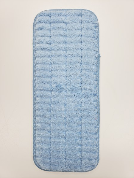 Microfiber Scrubbing Wet Mop 13in Blue
