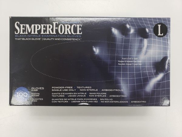 SemperForce Black Nitrile Gloves