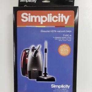 Simplicity Type H HEPA Cloth bags 6Pk
